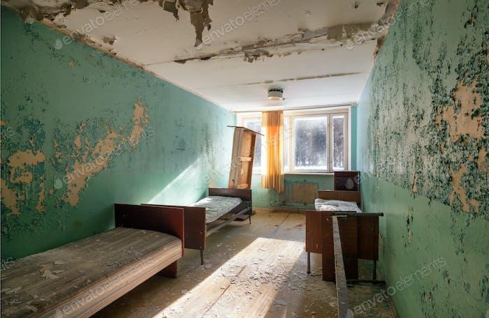Interior abandoned room