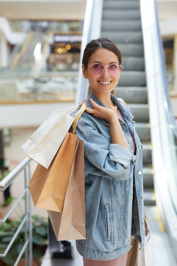 Fotoshooting im Einkaufszentrum