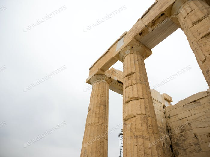 columns of the Acropolis (Propilea) Athens