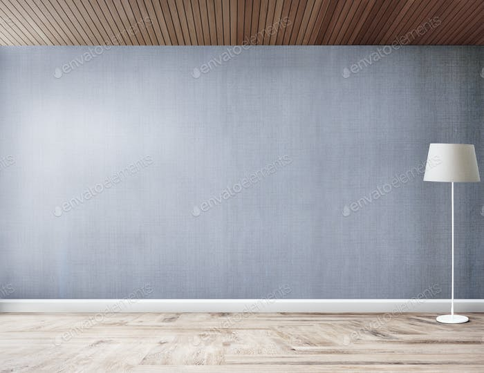 Standing lamp in a gray room