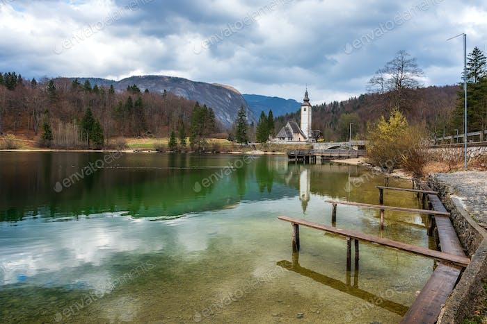 Church at Bohinj lake, Slovenia