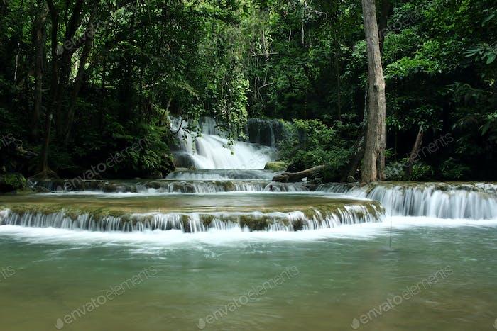 Thailand waterfall in Kanchanaburi