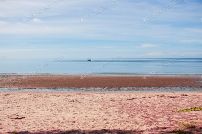 beach with blue sky