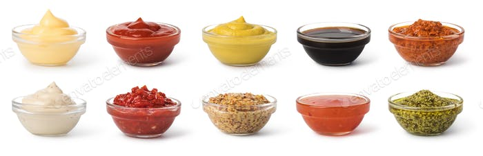 Bowl with sauce set