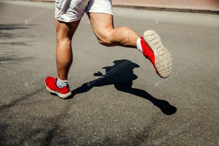 Füße Mann Läufer laufen