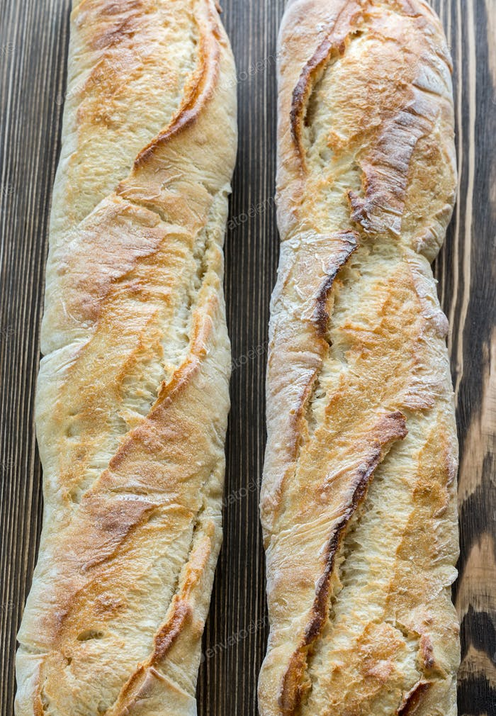 Two baguettes