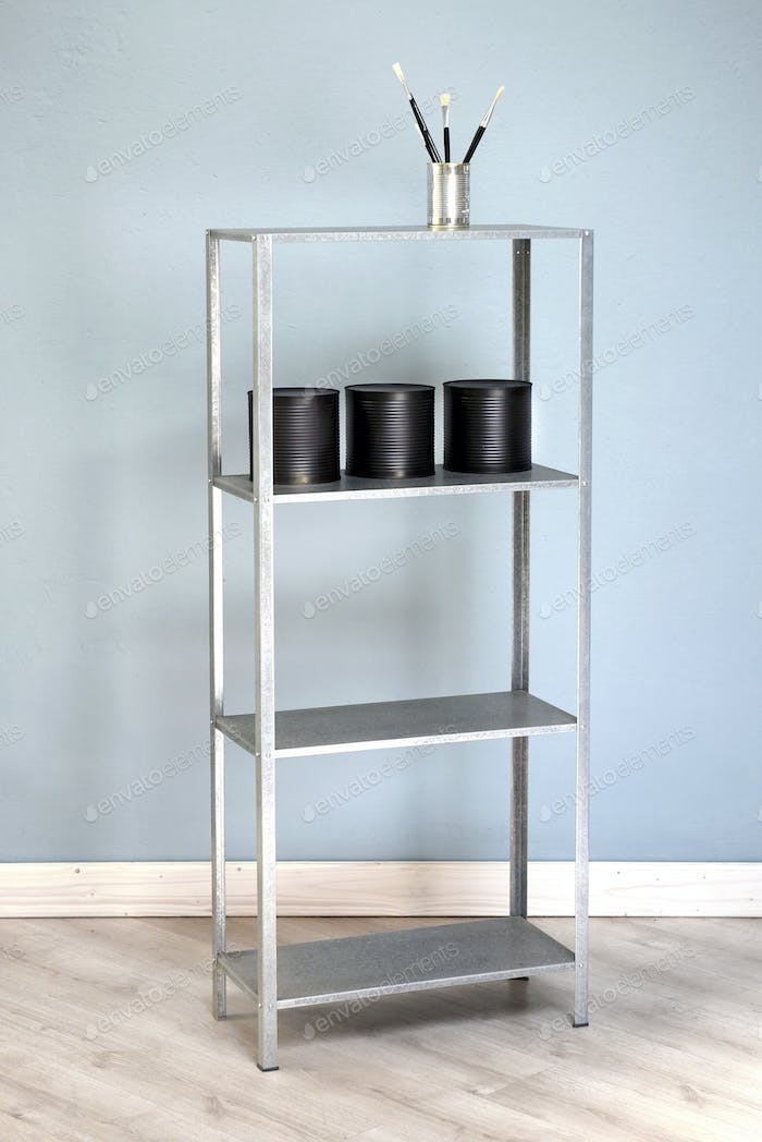Freestanding alumninium bookshelves