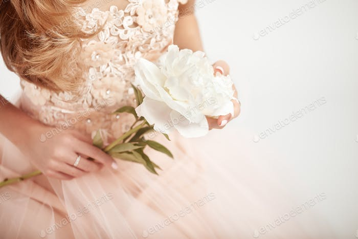 Beautiful woman in wedding dress