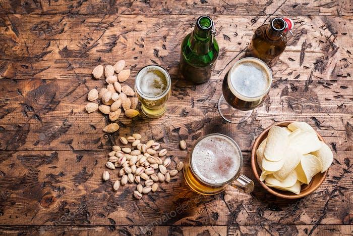 verschiedene Arten von Bier