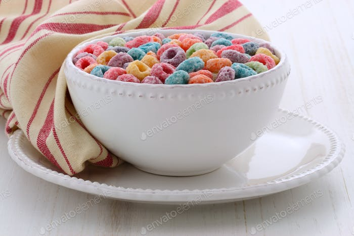 Delicious kids cereal loops