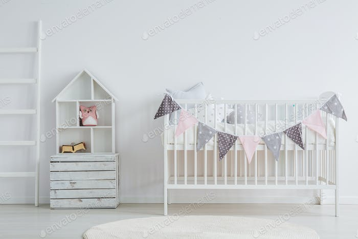 White Vintage Baby Furniture Set