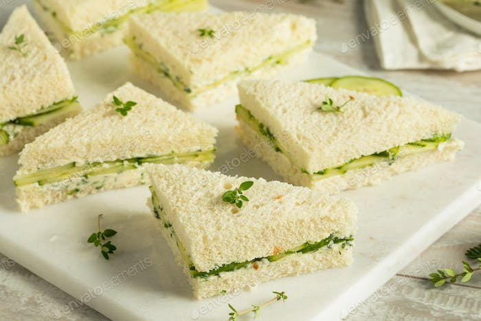 Homemade Cucumber Tea Sandwiches