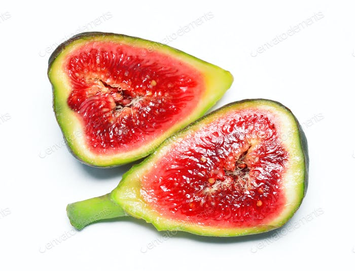 Fig fruit isolated on white