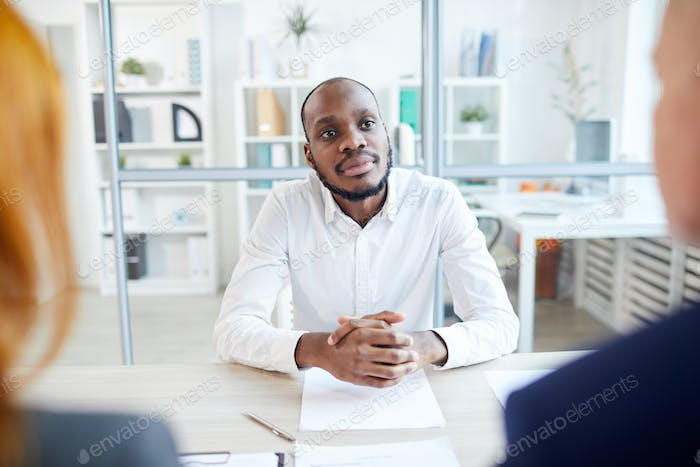 African Man in Job Interview