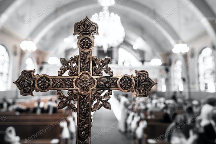 Detail of a Cross inside a Church